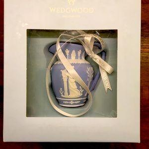 NWT Wedgwood Ornament 2010 Blue Pitcher